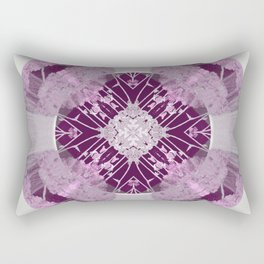 Microchip Mandala in Pink Rectangular Pillow
