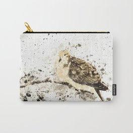 Mourning Dove Splatter Carry-All Pouch