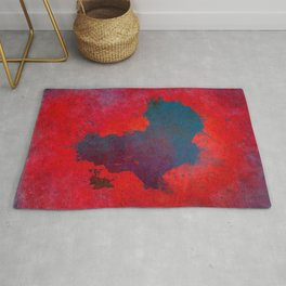 Africa map 3D red blue #africa #map Rug