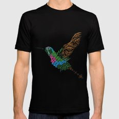 Abstract Hummingbird ~ Garnet-throated Variant Black Mens Fitted Tee MEDIUM
