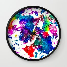 queer radiation — abstract art » modern print » trippy experimental Wall Clock