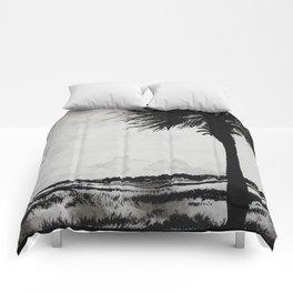 Palm Tree on the Marsh Comforters