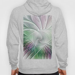 Colorful Fantasy Flower, Abstract Fractal Art Hoody