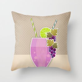 """Picture. The grape juice. From a set of paintings. The """"kitchen"""". Throw Pillow"""