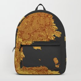 Street Map of San Francisco and Oakland, California Backpack