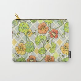 Climbing Nasturtiums in Lemon, Lime and Tangerine Carry-All Pouch