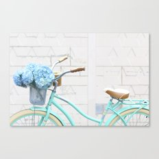 Turquoise Bike Canvas Print