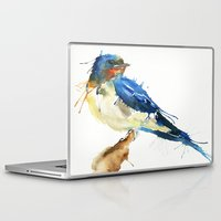 swallow Laptop & iPad Skins featuring Swallow by Meg Ashford