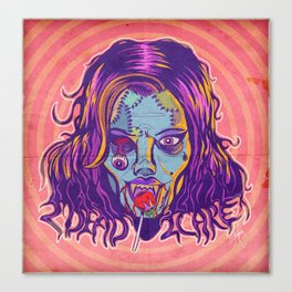 2 Dead 2 Care Canvas Print