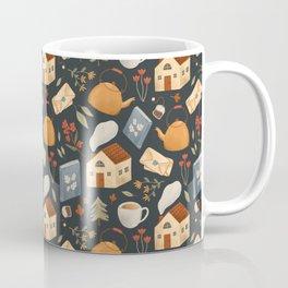 Cozy Cottage Pattern Coffee Mug