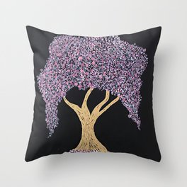Weeping Cherry Throw Pillow