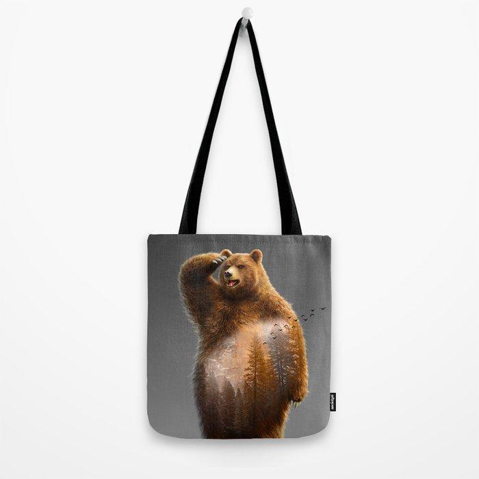 Bear X Tote Bag