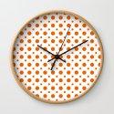 Bright orange and white polka dots pattern by sunshineprints