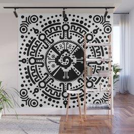 Hunab Ku Mayan symbol black and white #3 Wall Mural