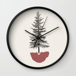 Fir Pine Wall Clock