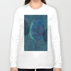 Leaves in blue and green Long Sleeve T-shirt