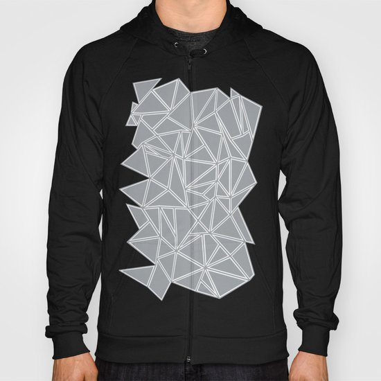 Shattered Ab Grey and White  Hoody