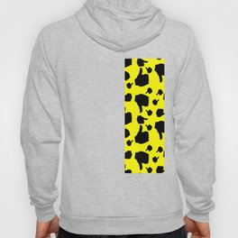 black thumb up and down pattern Hoody