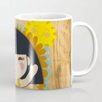 bonjour Mugs featuring Bonjour by maru y su cabeza