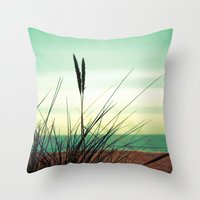 dune Throw Pillows featuring Dune View by ALLY COXON