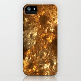 Fractal Art - Gold mine iPhone Case