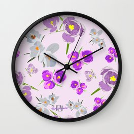 Crocus Lilac Wall Clock