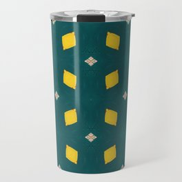 Playful Abstract Lemons Geometry Background Travel Mug
