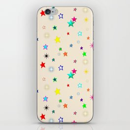 Colorful Rainbow Stars on Cream {BohoBear} iPhone Skin