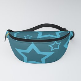 Stars turquoise color design Fanny Pack