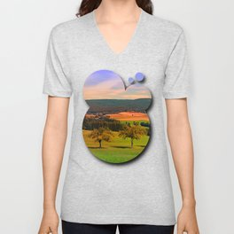 Two rival trees Unisex V-Neck