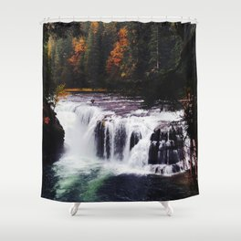 Lower Lewis River Falls #1 Shower Curtain