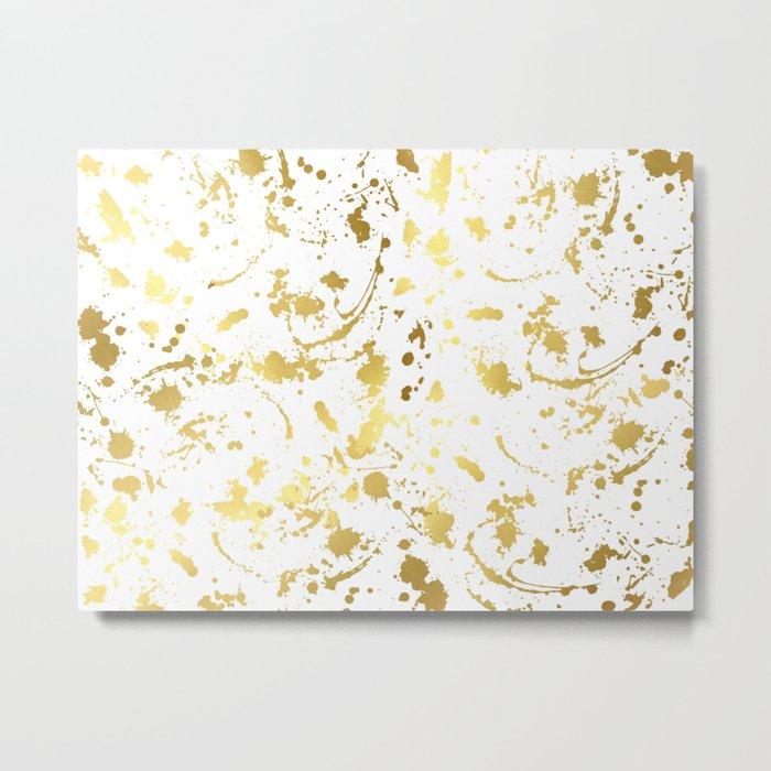 Golden abstract #4 Metal Print