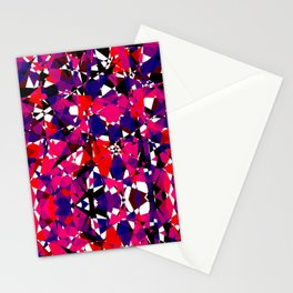 Abstract Colorful Broken Fragment Stationery Cards