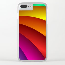 towel full of colors -3- Clear iPhone Case