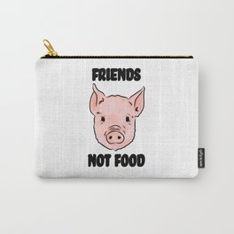 Cute Pig Vegan Friends Not Food Illustration Carry-All Pouch