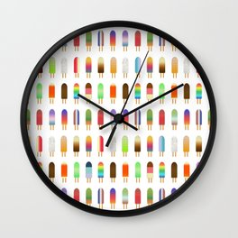 Popsicles Party Pattern Wall Clock