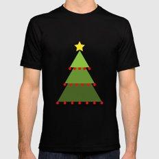 Christmas Tree Black MEDIUM Mens Fitted Tee