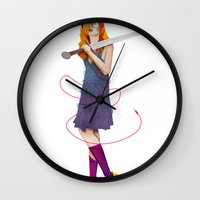 sword Wall Clocks featuring Sword Maiden by Dan Robinson Miller