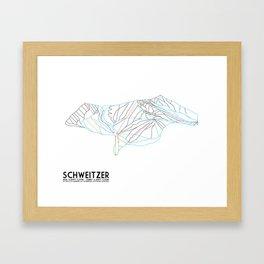 Schweitzer, ID - Minimalist Trail Art Framed Art Print