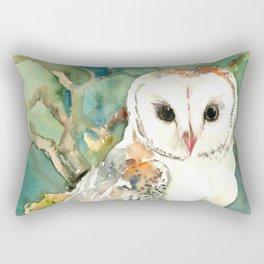 Barn Owl, woodland design owl Rectangular Pillow