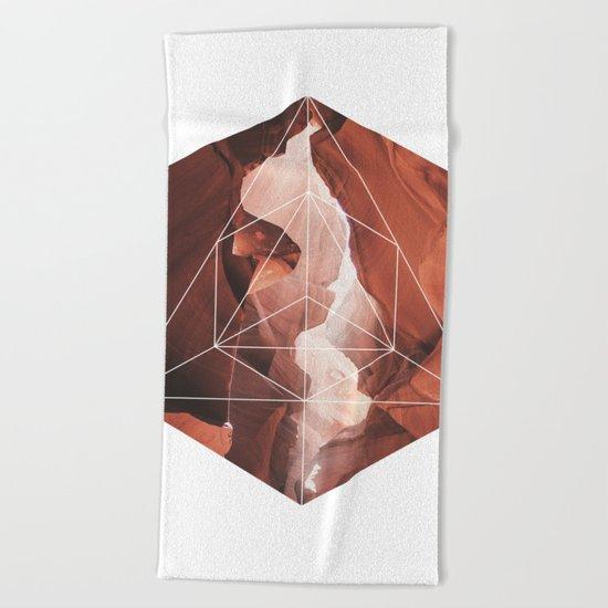 A Great Canyon - Geometric Photography Beach Towel
