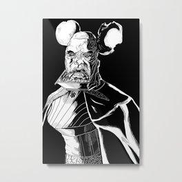 Vador Mouse Unmasked Metal Print