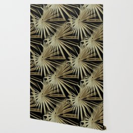 Brown On Black Tropical Vibes Beach Palmtree Vector Wallpaper
