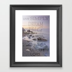 Thoughts at Sunset Framed Art Print