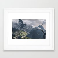 dragons Framed Art Prints featuring Dragons by Klaudia Jozwiak