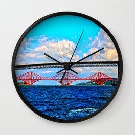 Two Bridges Wall Clock