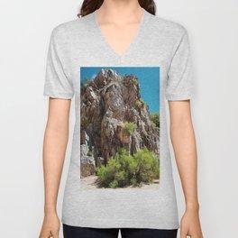 Desert Canyon Wall Unisex V-Neck