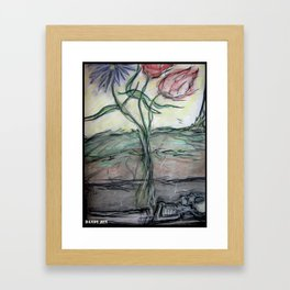 Flowers Grow Out of My Grave Framed Art Print