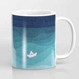 Garlands of stars, watercolor teal ocean Coffee Mug