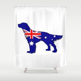 Australian Flag - English Setter Shower Curtain
